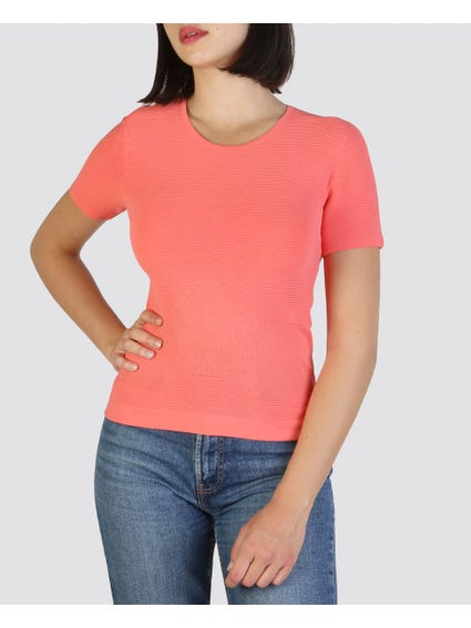 Pink Patterned T-Shirt