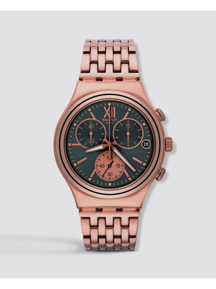Irony Rose Gold Stainless Steel Chronograph Watch