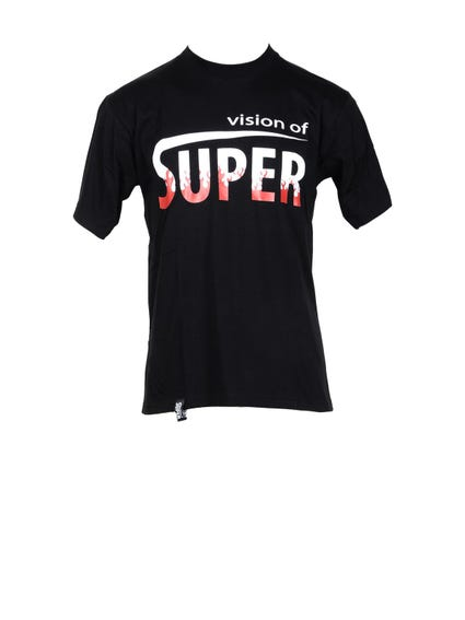 Black Round Brand Printed T Shirt