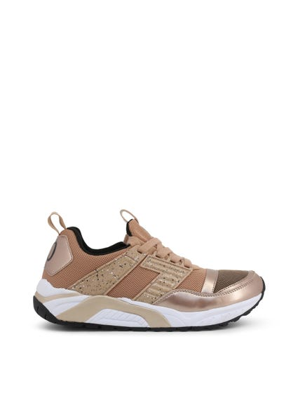Brown Mesh Sneakers