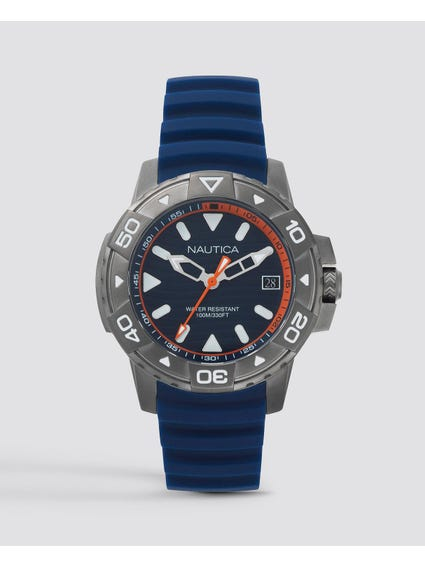 Blue Edgewater Silicone Watch