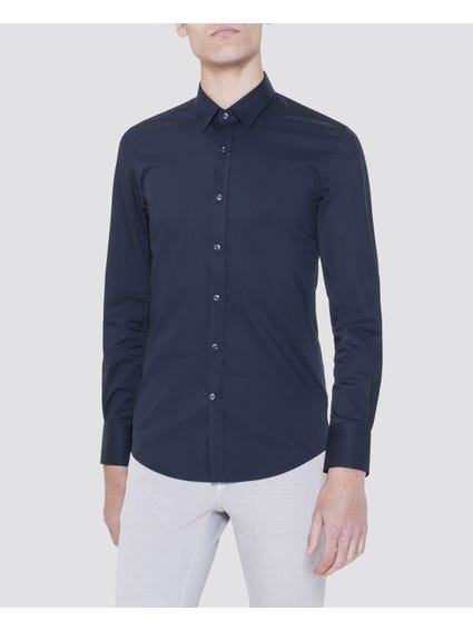Navy Classic Long Sleeves Shirt