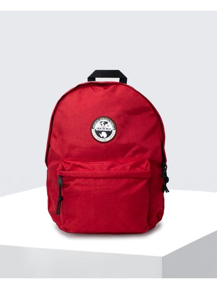 Red Logo Patch Backpack