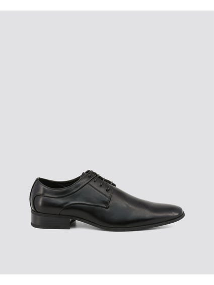 Black Almond Toe Formal Lace Up