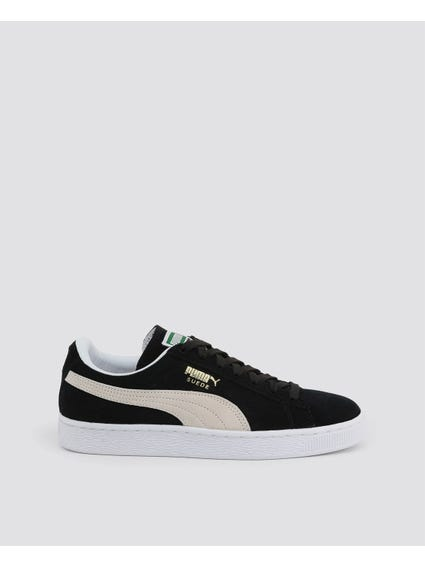Black Classic Suede Low Top Sneakers