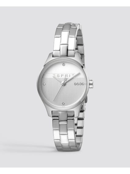 Silver Zirconia Stainless Steel Watch