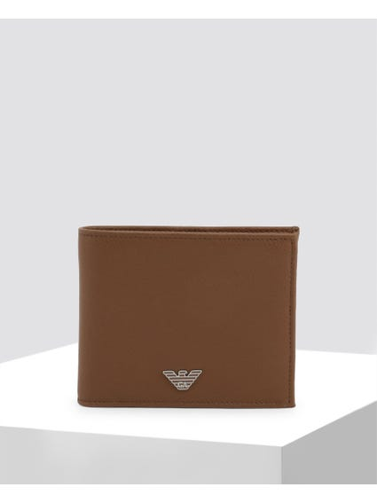 Brown Bi Fold Leather Wallet