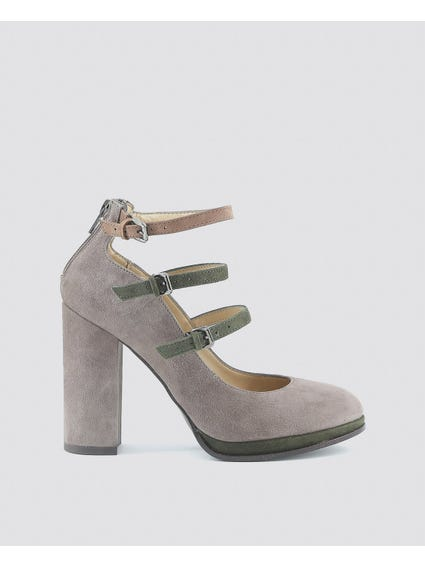 Grey Filomena Pumps