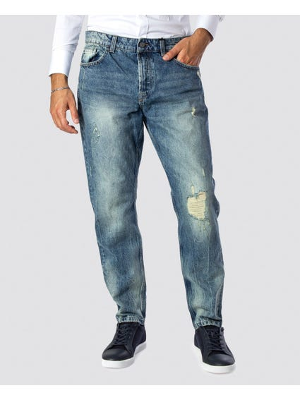 Washed Pocket Slim Fit Jeans