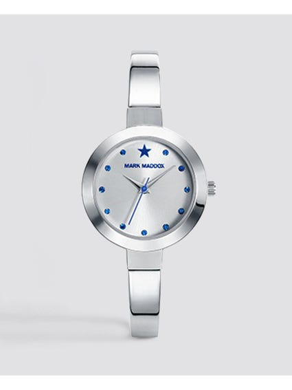 Trendy Silver Analog Watch