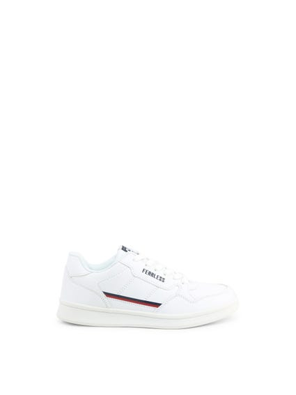 White Striped Kids Sneakers