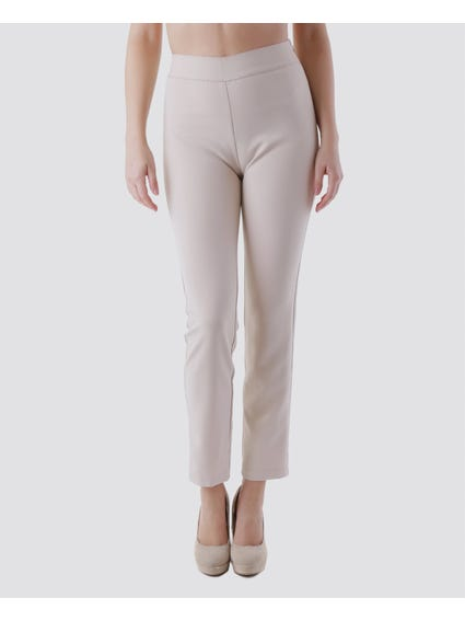Casual Elasticated Waistband Trouser