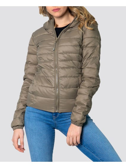 Green Hooded Padded Jacket