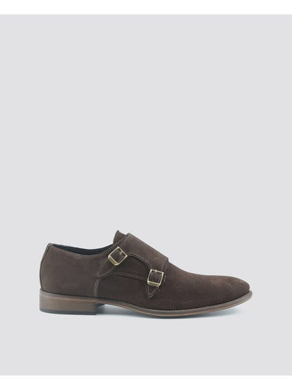 Dark Brown Dario Metalli Buckle Formal Slip Ons