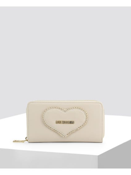 Off White Studded Wallet