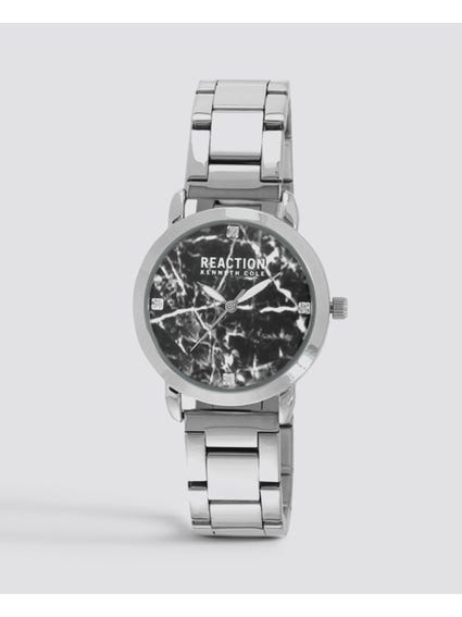 Silver Broken Mirror Stainless Steel Watch