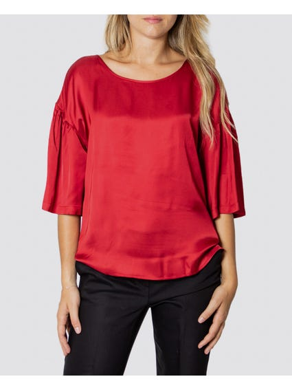 Red Molise Style Top