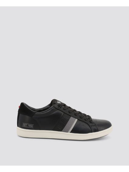 Black Jared USPA Striped Sneakers