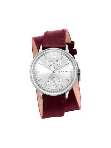 Double Leather Strap Analog Watch