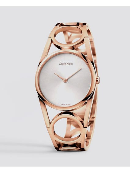 Silver Dial Rose Gold Watch