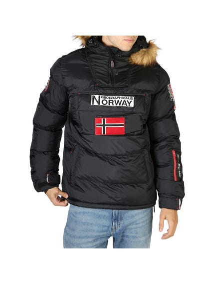 Black Removable Fur Hooded Jacket