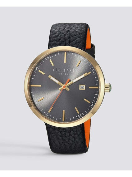 Jack Grey Dial Black Strap Watch