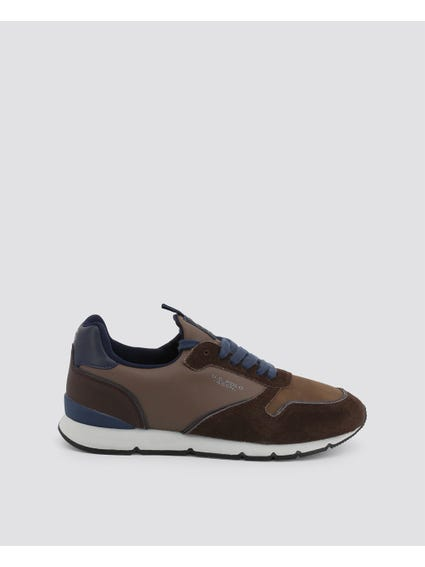 Brown Maxil Contrast Sole Sneakers