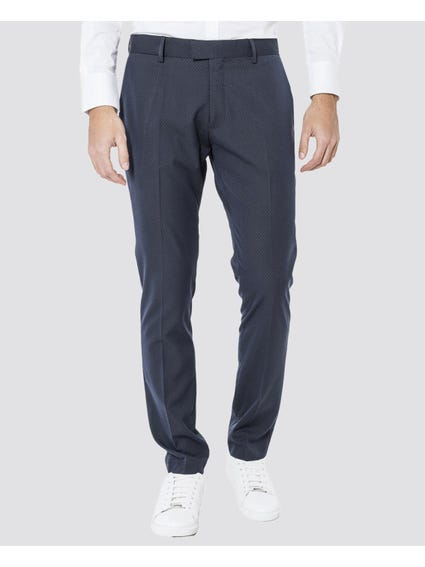 Navy Polka Dots Regular Trouser