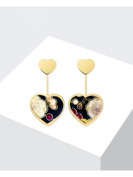Gold Nero Kokoro Mini Earrings
