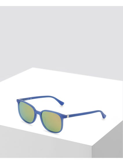 Blue Oversized Sunglasses