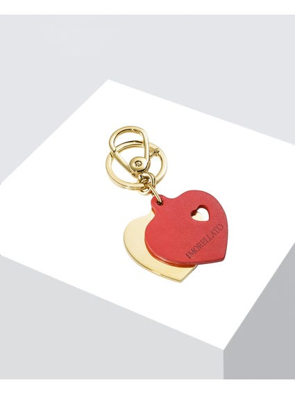 Twin Hearts Keychain