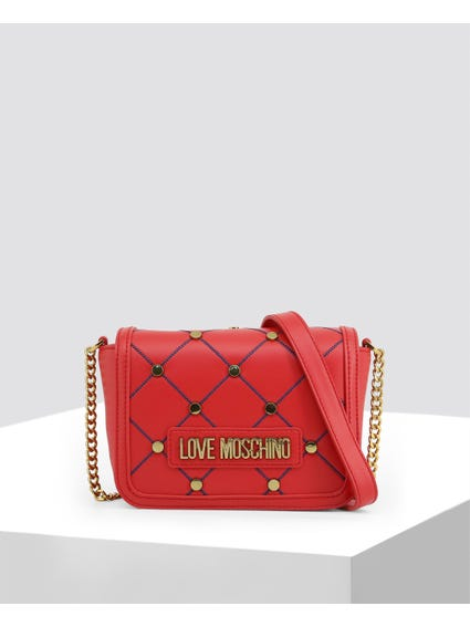 Red Cross Studded Crossbody Bag