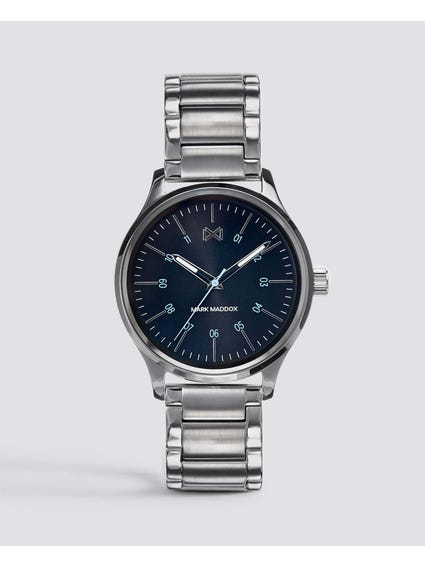 Stainless Steel Blue Dial Watch