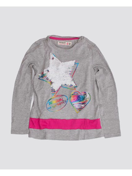 Colorful Crew Neck Kids Top