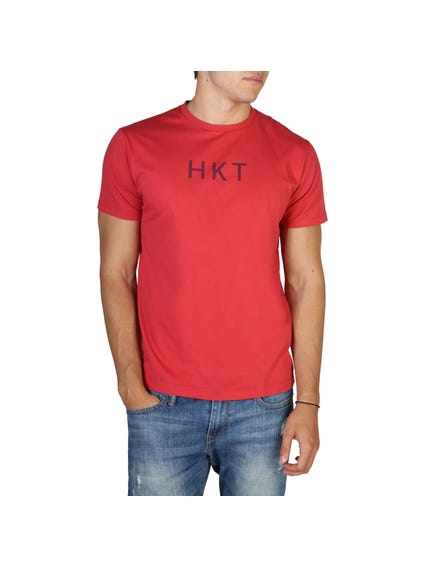 Red Center Printed Brand T-Shirt