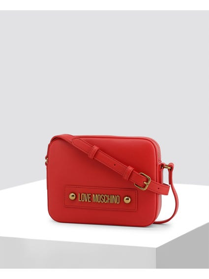 Red Signature Leather Crossbody Bag