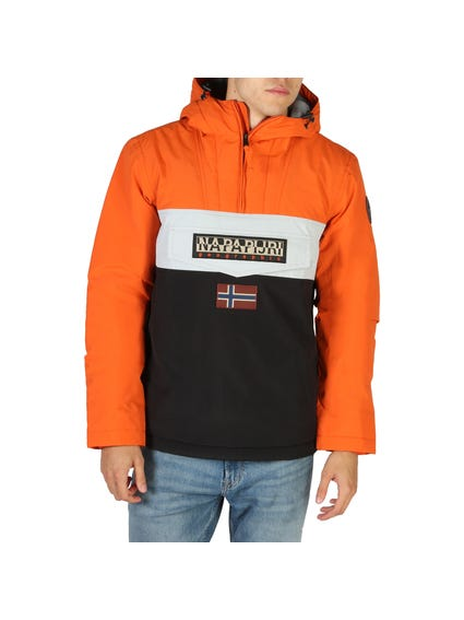 Black Rainforest Hood Pocket Jacket