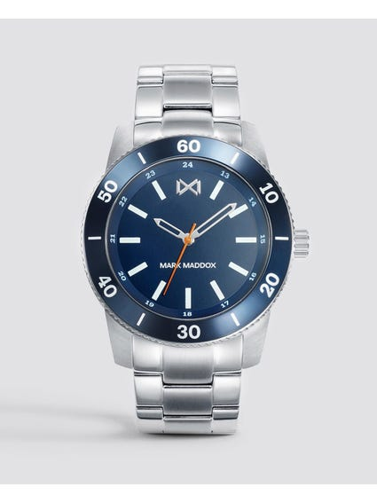 Mission Blue Dial Stainless Steel Watch