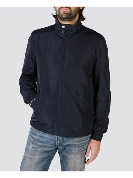Neck Equipped Bomber Jacket