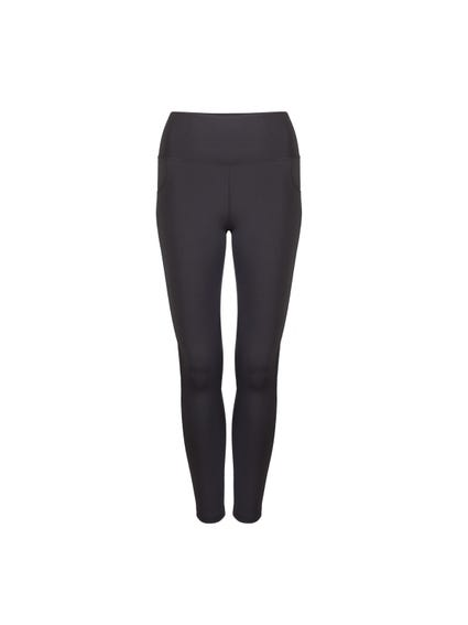 Grey Elasticated Waist Pocket Leggings