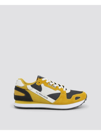 Yellow Flash Printed Logo Sneakers