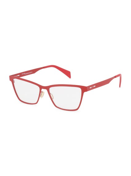 Red Metal Frame Bifocal Eyeglass