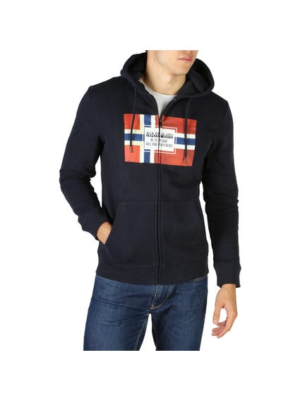 Blue Bera Hooded Zip Sweatshirt