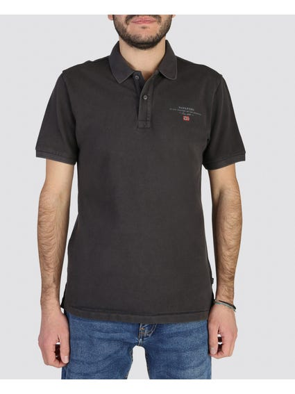 Grey Elbas Short Sleeves Polo
