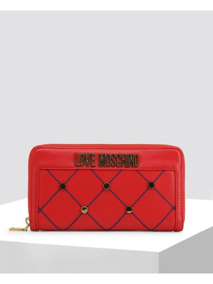 Red Cross Studded Large Wallet