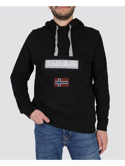 Black Burgee Hooded Sweatshirt