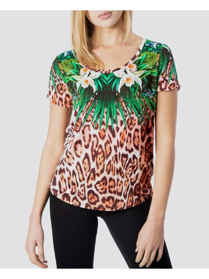 Multi Animal Print T-Shirt