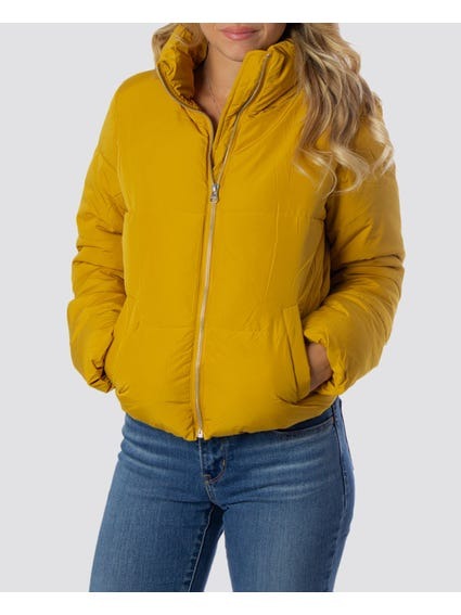 Yellow Full Zip Hooded Jacket