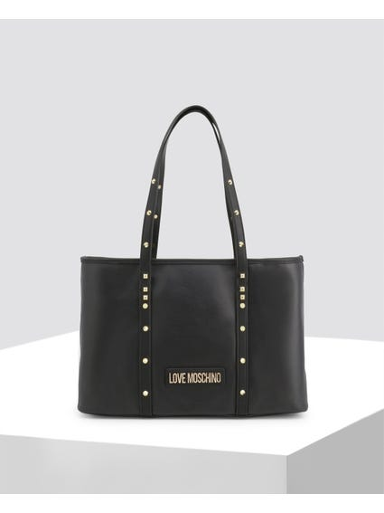 Black Spikes Leather Bag