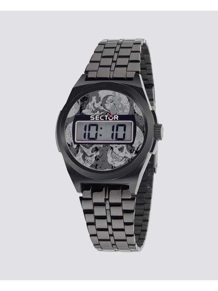 Grey Dial Digital Watch